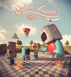"""""""Opposite Friends"""" by Julian Nuñez, via Behance"""