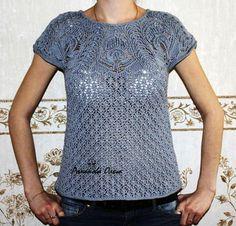 Пуловер с ажурной кокеткой. Обсуждение на LiveInternet - Российский Сервис Онлайн-Дневников