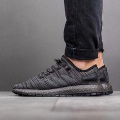 on sale c5baf 30ed3 Adidas Pure Boost (CG2990) Black Adidas, Adidas Men, All Black Sneakers,