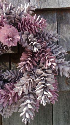 Pinecone krans 12'' Pretty In Pink gemaakt te