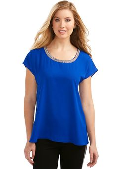 6d32f258ac3 Jewel Gathered Back Top Plus Size Women s Tops