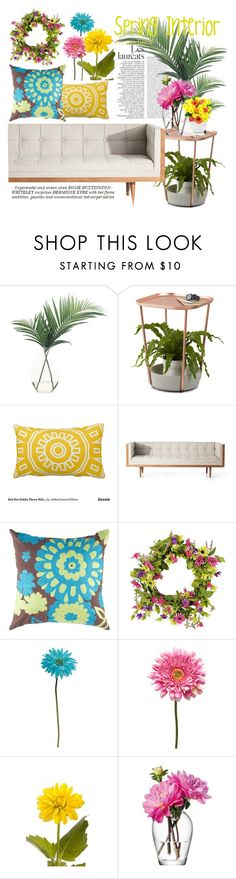 """Spring Home Decor"" by kikiseppr on Polyvore featuring interior, interiors, interior design, home, home decor, interior decorating, NDI, Umbra, Flamant and Allstate Floral"