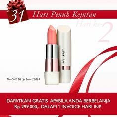 Dapatkan hadiah gratis Lip Balm utk hari ini jika order minimal 299.000 dalam satu invoice