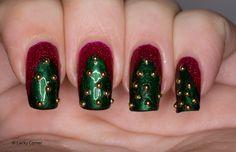 Lacky Corner: Winter Nail Art Challenge - Christmas Trees
