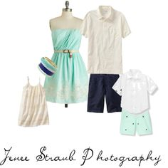 What to wear for your family photo session: seafoam and sand.   www.jeneestraubphoto.com Katy, Texas photographer