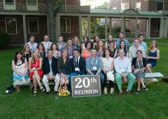 20 years and still going strong! The Class of 1993 posed for their group shot during reunion!! Loomis Chaffee School