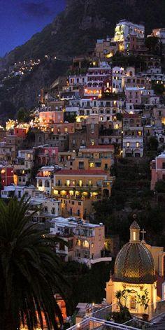 Rew Elliott: City at Night, City of Light: Positano by tulasi.fanelli