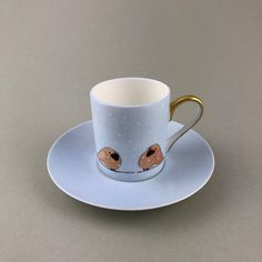 Espressotasse Vögel Porcelain, Tableware, Gifts, Men, Porcelain Ceramics, Dinnerware, Presents, Tablewares, Favors