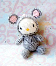 Crochet amigurumi Pattern - Zodiac Rat Kitty - amigurumi doll pattern/PDF