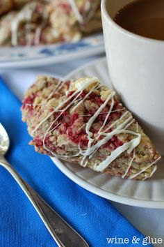 Erin recommended - Yummy Recipes: White Chocolate Raspberry Scones recipe