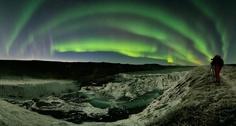 Auroras over iceland
