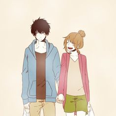Find images and videos about couple, anime and kawaii on We Heart It - the app to get lost in what you love. Manga Couple, Anime Love Couple, Cute Anime Couples, Anime Manga, Anime Art, Fanart, Cute Romance, Manga Love, Anime Kawaii