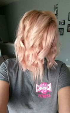Blonde Rose Gold Hair color