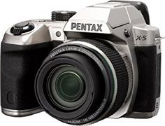 Pentax X-5 16 MP Digitial Camera with 26x Optical Zoom and Tiltable 3-Inch LCD 12772 (Silver) - http://electmecameras.com/camera-photo-video/digital-cameras/pentax-x5-16-mp-digitial-camera-with-26x-optical-zoom-and-tiltable-3inch-lcd-12772-silver-ca/