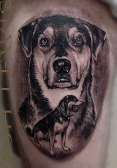 Stained Nation Tattoo Lounge - memorial portrait dog tattoo
