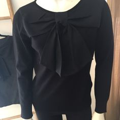 Bow Front Sweater, Available in Black or Gray: $62.00 Whimsical Fashion, Lifestyle Blog, Ruffle Blouse, Bows, Gray, Long Sleeve, Sleeves, Sweaters, Black
