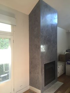 The client wanted a venetian plaster feature wall to break down the colour tone of an all white room and highlight the chimney in the space making it a striking focal point.  Render it Oz were able to achieve a light grey marble look...