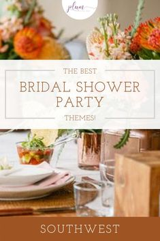 Plan the perfect bridal shower! Here are the BEST themes for 2021 / Bridal shower ideas / How to plan a Bridal Shower / Bridal Shower Inspiration / Lemon Bridal Shower / Garden / Southwest / Aloha / Something Blue / Tiffany's / Chanel / Adventure Awaits / Pearls of Wisdom Bridal Shower / Harry Potter / Friends Series / Pastel & Floral / Blush & Gold / Fiesta / Bohemian / Tea Party / Black & White Glam / Vogue Lingerie / Bubbles & Besties / Vintage Glamour / Scooped Up / Mint to Be / Rustic… Bridal Luncheon, Bridal Shower Party, Bridal Showers, Fall Wedding Flowers, Fall Wedding Colors, Food Themes, Party Themes, Party Ideas, Bridal Table Decorations