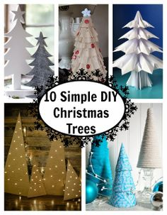 10 Simple DIY Christmas Trees
