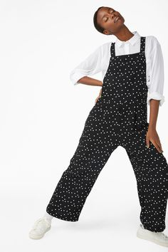 db59662d40 Wide leg dungarees - Black magic - Jumpsuits - Monki GB Wide Legs