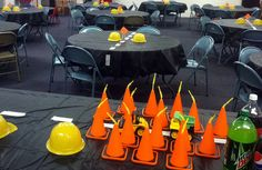 Construction theme party - the cone cups were the only splurge.  Everything else was DIY, easy, and cheap.