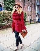 Oeps, there she is, Diva-Iraida, famous Dutch blogger in the Firebrick Mohair coat! www.tessakoops.com