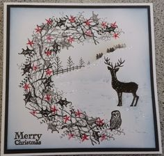 S & D Card Crafts: Christmas with Card io and Tapestry stamps Christmas Cards 2018, Stamped Christmas Cards, Christmas Card Crafts, Xmas Cards, Holiday Cards, Fall Cards, Winter Cards, Card Making Inspiration, Making Ideas