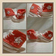 gehäkelte Chucks Converse Turnschuhe Sneaker Babyschuhe crochet boots booties