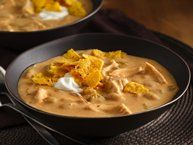 White Chicken Chili- We all like this, and it's great for potlucks, we leave out the hominy and substitute the additional beans