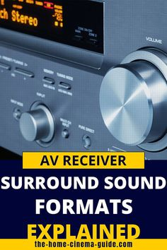 The surround sound formats available on modern AV receivers can be confusing. Check out our guide to Dolby Atmos, DTS:X, DTS-HD Master Audio and more. Home Cinema Room, Home Theater Setup, Home Theater Rooms, Home Theater Surround Sound, Surround Sound Speakers, Av Receiver, Dolby Atmos, Baked Ziti, Dolby Digital