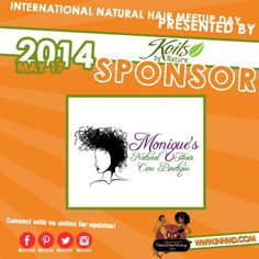 #INHMD presented by #KoilsByNature would to thank #MoniquesNaturalHairCareBoutique  for being a 2014 sponsor! We are glad to have you on board again. #INHMD #KoilsByNature #MoniquesNaturalHairCareBoutique #NaturalHairProducts #TeamNatural #May17th #NaturalHairEvents www.inhmd.com for more details.