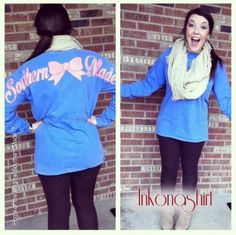 Comfort Color Southern Made Long Sleeve T Shirts by InkOnAShirt, $25.00
