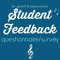 The best way to improve a music program is to get feedback from the people who are most involved in the music program; THE STUDENTS!I created this feedback handout because I just launched a new band program at my school. The band is compulsory for all grade 6 students and I wanted to know their thoughts on the program.