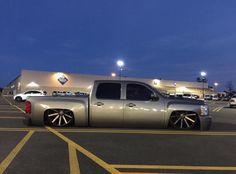 2012 Crew Silverado bagged on Bagged Trucks, Trucks Only, Lowered Trucks, Mini Trucks, Gm Trucks, Cool Trucks, 2012 Silverado, Chevy Luv, Custom Pickup Trucks