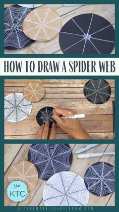How to Draw a Spider Web Learn how to draw a spider web with this simple drawing tutorial. Halloween Art Projects, Fall Art Projects, Halloween Masks, Easy Halloween, Autumn Crafts, Autumn Art, Art For Kids, Crafts For Kids, Arts And Crafts