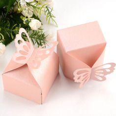 Par 20 pcs papillon décoration boîte à dragées mariage baptême décoration naissance