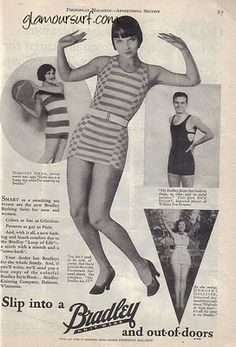 Louise Brooks and Bradley Swimwear.......Advertisers will sometimes use film stars to promote their products. Celebrity endorsement is nothing new. This ad for Bradley swimsuits features Louise Brooks, Dorothy Dwan, Nick Stuart and Dorothy Gulliver. What is interesting though is that Bradley has not tied itself to a single movie studio, this one features Universal, Paramount and FOX. The ad dates to 1928, a time when advertising needed to capture the readers attention with the use of imagery…