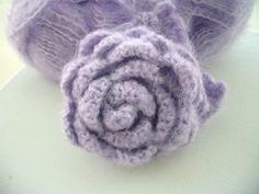 Hand Crochet Corsage Brooch Pin Large Lilac by CraftsbySigita,  www.etsy.com/shop/CraftsbySigita