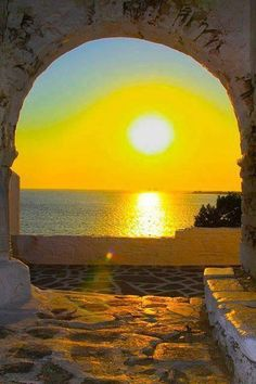 Golden Sunset,Paros Island,Greece...