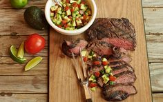 Spring is finally here — we can enjoy the weather and break out the grill. This juicy, grilled, cumin-seasoned steak is paired with a fresh avocado salsa.