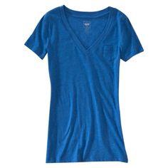 Mossimo Supply Co. Juniors Pocket V-Neck Tee -- super comfy shirts! High School Wardrobe, Target Juniors, Mossimo Supply Co, Cancun, V Neck Tee, Tees, Shirts, Dresser, Short Sleeve Dresses