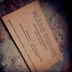 My business card #letterpress #design