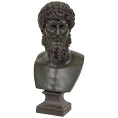 19th Century Grand Tour Patinated Bronze Bust of Lucius Verus | From a unique collection of antique and modern sculptures at https://www.1stdibs.com/furniture/decorative-objects/sculptures/