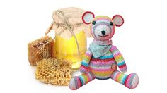 Beer Bella is gek op honing! Bear Bella! Amigurumi