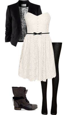 Simple country style wedding dresses with boots trends Source by highvoltageliz Fashion outfits Teen Fashion Outfits, Mode Outfits, Outfits For Teens, Fall Outfits, Casual Outfits, Womens Fashion, School Outfits, Simple Outfits, Pretty Outfits