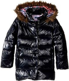 Moncler K2 Hooded Fur-Trim Puffer Coat, Size 12M-3 - Moncler