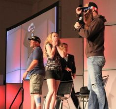 FLASHBACK! The moment when she realized it was Jeffrey Donovan's voice... love this moment. #DCC2014 #DCCsurprise Photo by Patrick Corrigan    via Denver Comic Con's Facebook page