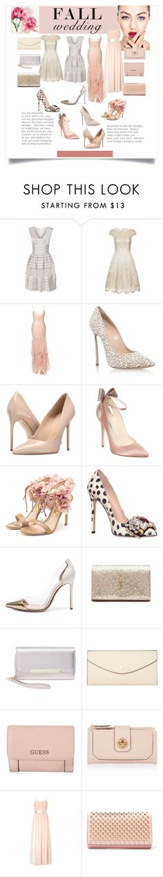 """""""Wedding day"""" by daniela-candita ❤ liked on Polyvore featuring Temperley London, Chi Chi, Jenny Packham, Casadei, Massimo Matteo, Brian Atwood, Rupert Sanderson, GEDEBE, Gianvito Rossi and Yves Saint Laurent"""