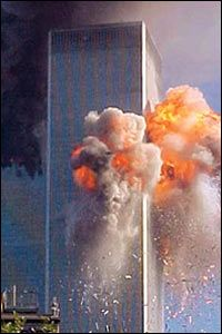 Tower 2 is hit 9/11/2001.......never forget what religion hit the towers!!