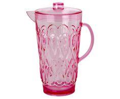 Servieren Sie frisches Wasser, leckere Säfte oder eine fruchtige Bowle in Krug SWIRLY von Rice. In Pink gehalten ist der verzierte Krug aus Acryl ein farbenfroher Eyecatcher auf jeder Gartenparty und dank dem praktischem Deckel können Sie die Getränke auch im Freien sicher verschließen.
